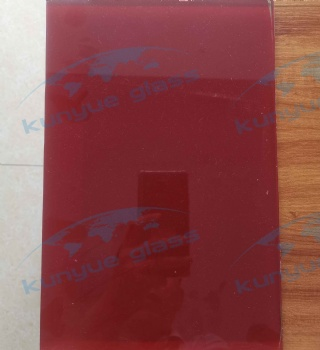 Lacquered Glass-red